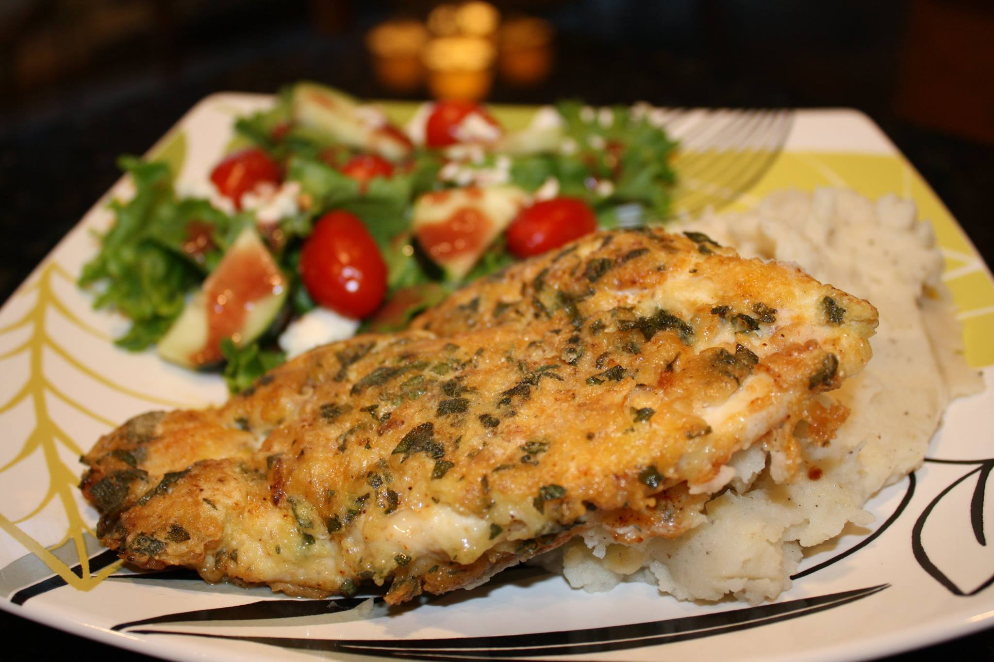Jazzy Jae's BellaVitano/Sage Encrusted Creole Chicken Breast