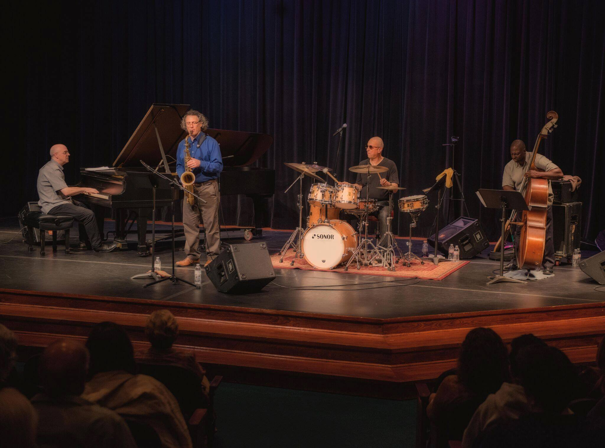 Jae Sinnett's Zero to 60 Quartet performing at the 2017 Williamsburg Concerts