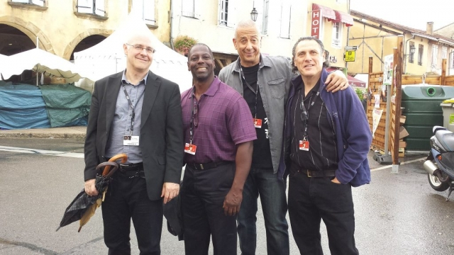 Jae Sinnett's Zero to 60 Quartet at the Jazz in Marciac Festival in August 2017