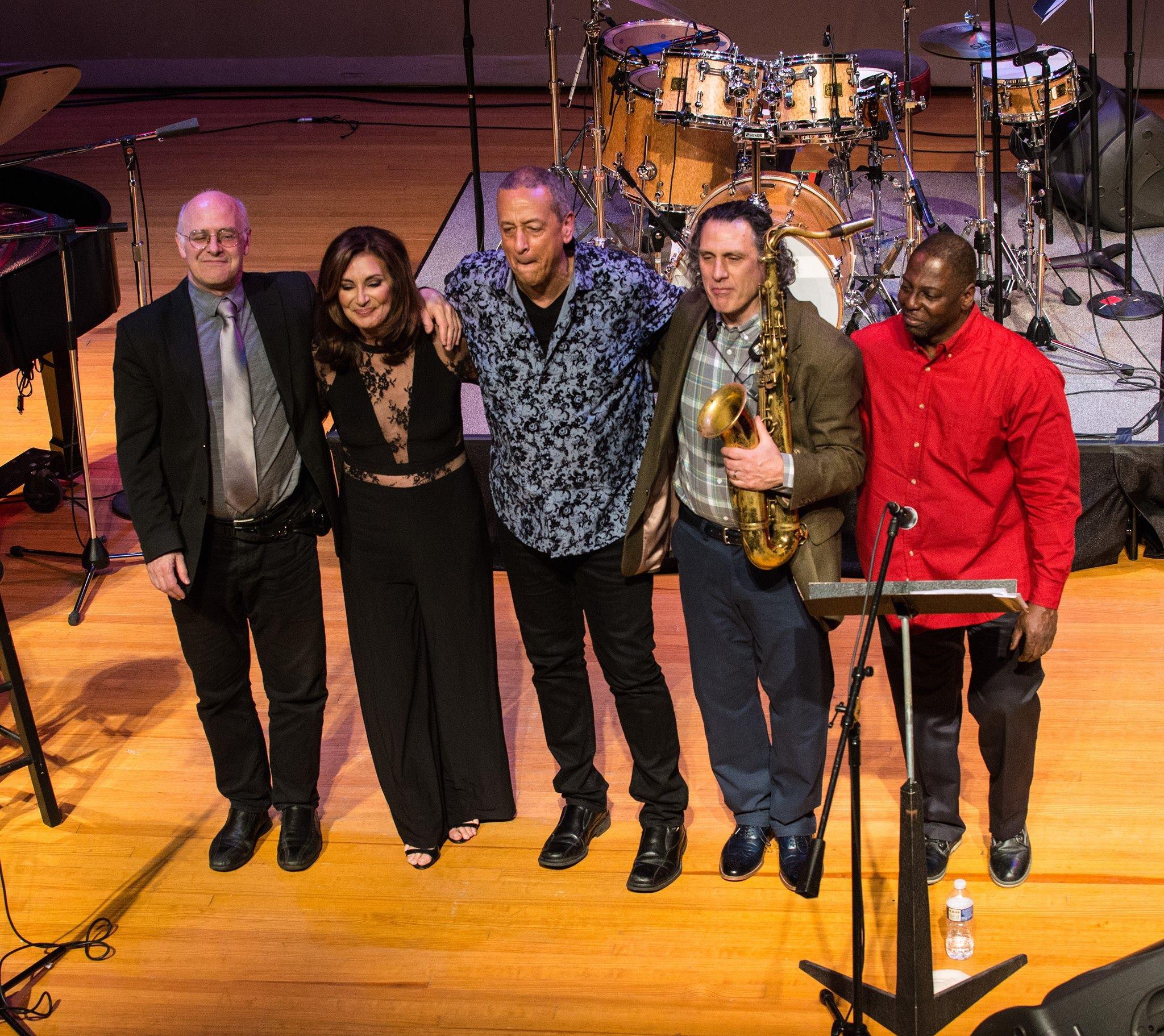 Jae Sinnett's Zero to 60 Quartet with Denise Donatelli in December 2017