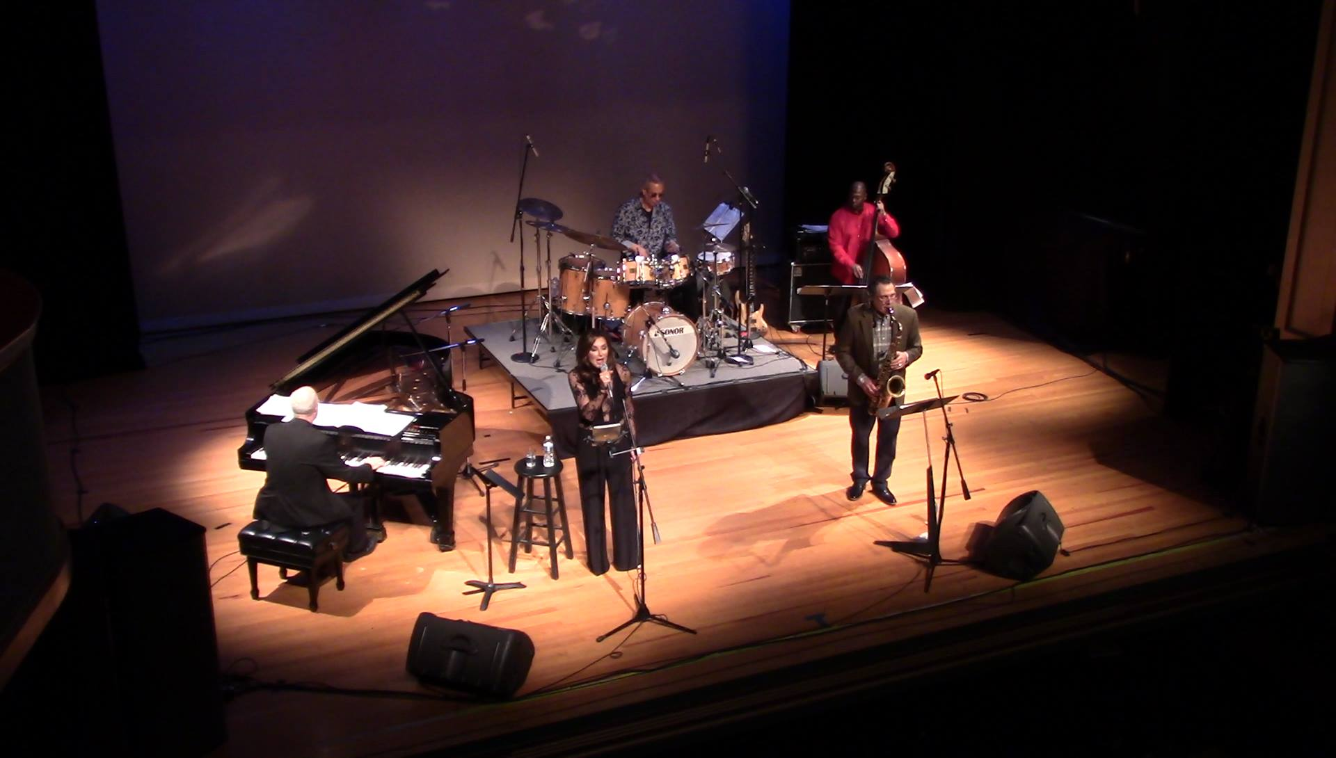 Jae Sinnett's Zero to 60 Quartet with Denise Donatelli in December 2017