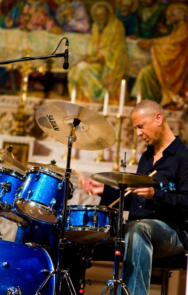 Jae Sinnett drumming in Pueblo, CO in 2012