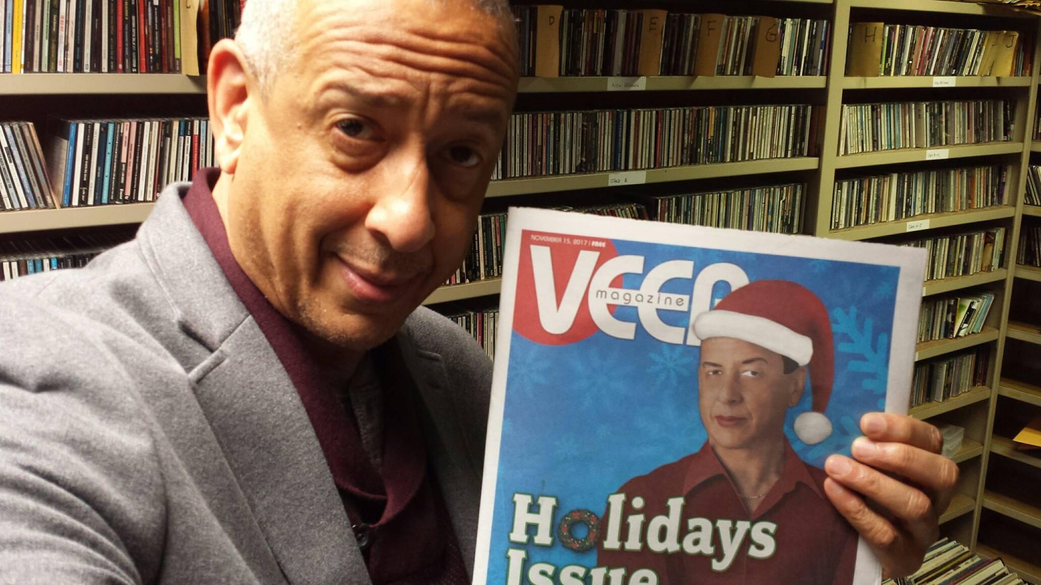 Jae Sinnett with the VEER Magazine 2017 Holidays Issue