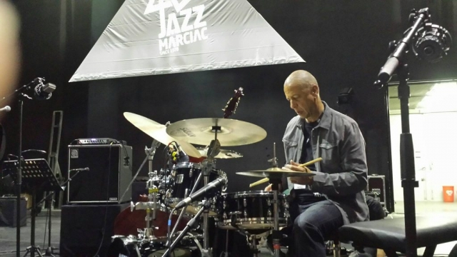 Jae Sinnett Drumming at the Jazz in Marciac Festival 2017
