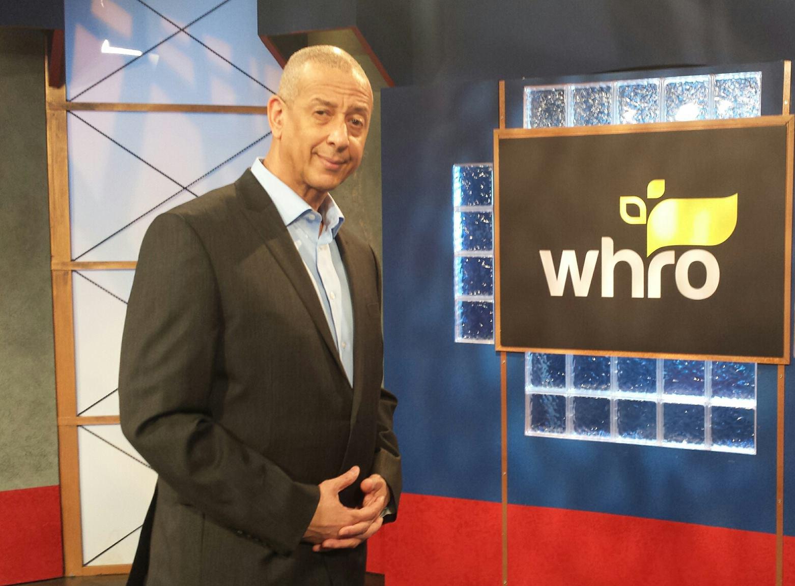 Jae Sinnett promoting a fundraiser for WHRO-TV 15
