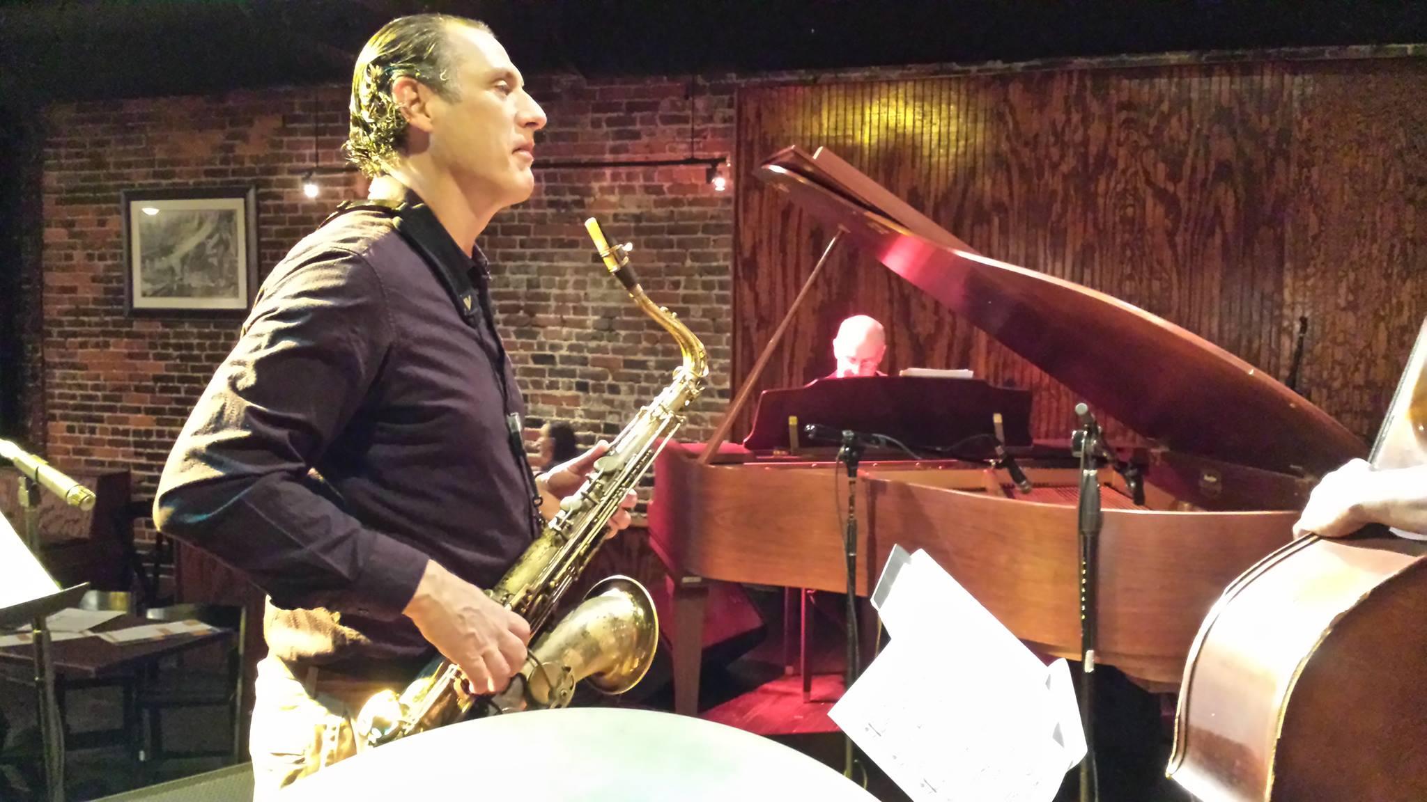 Ralph Bowen of Jae Sinnett's Zero to 60 Quartet performing at the Capital Ale House in Richmond, VA in 2016