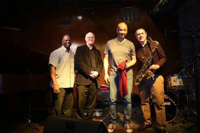 Jae Sinnett's Zero to 60 Quartet after performing at the Capital Ale House in Richmond, VA in 2016